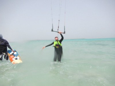 Hasifrett beim Kiten